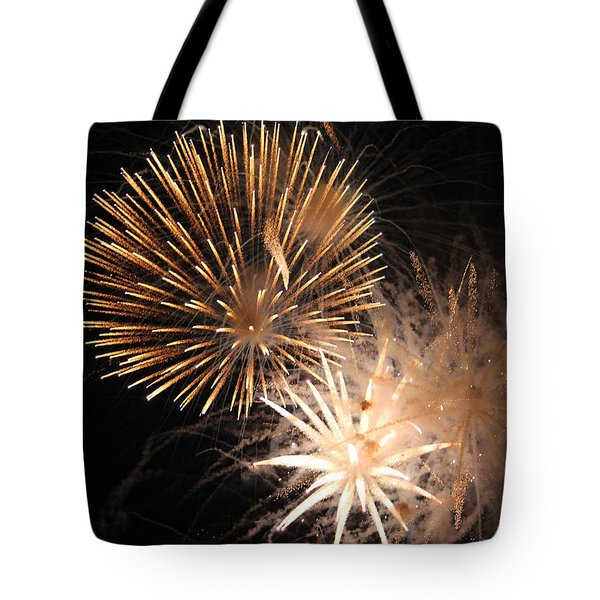 Golden Fireworks Tote Bag