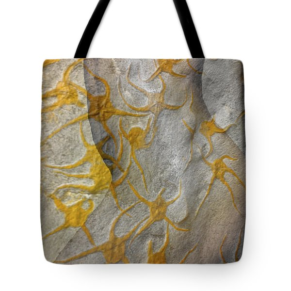 Golden Fossil Female Form Tote Bag