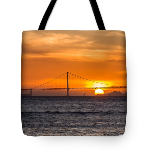 Golden Gate - Last Light Of Day Tote Bag