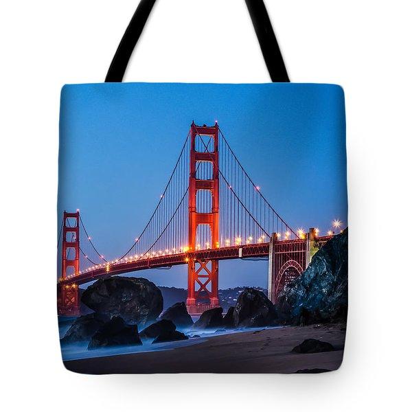 Golden Gate At Twilight Tote Bag