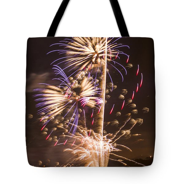 Golden Gate Bridge 75th Anniversary Fireworks 10 Tote Bag