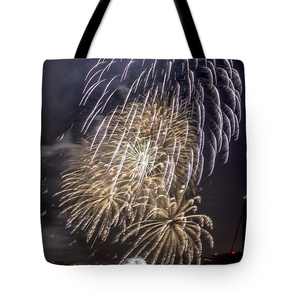 Golden Gate Bridge 75th Anniversary Fireworks 15 Tote Bag