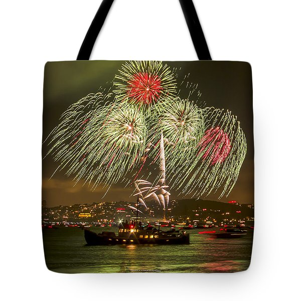 Golden Gate Bridge 75th Anniversary Fireworks 17 Tote Bag