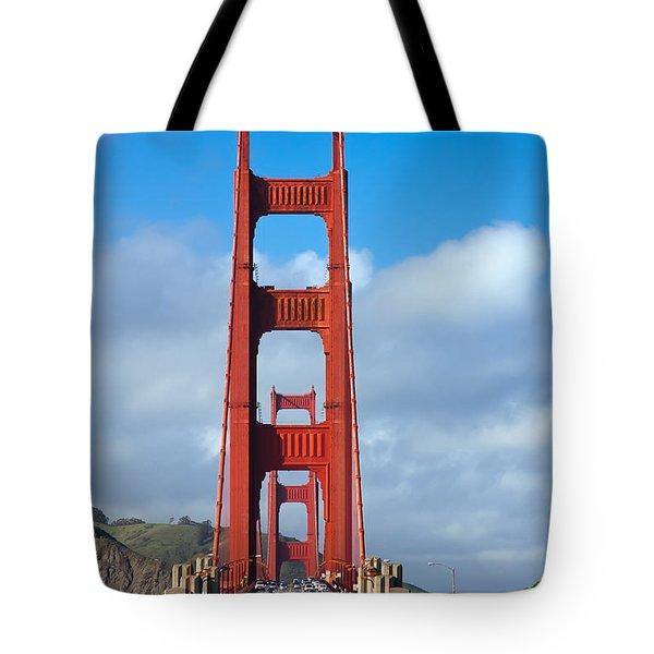 Golden Gate Bridge Tote Bag by Adam Romanowicz