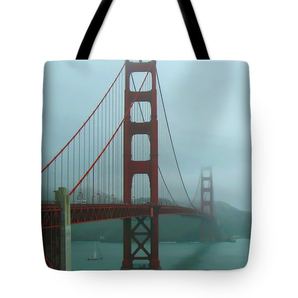 Golden Gate Bridge And Partial Arch In Color  Tote Bag