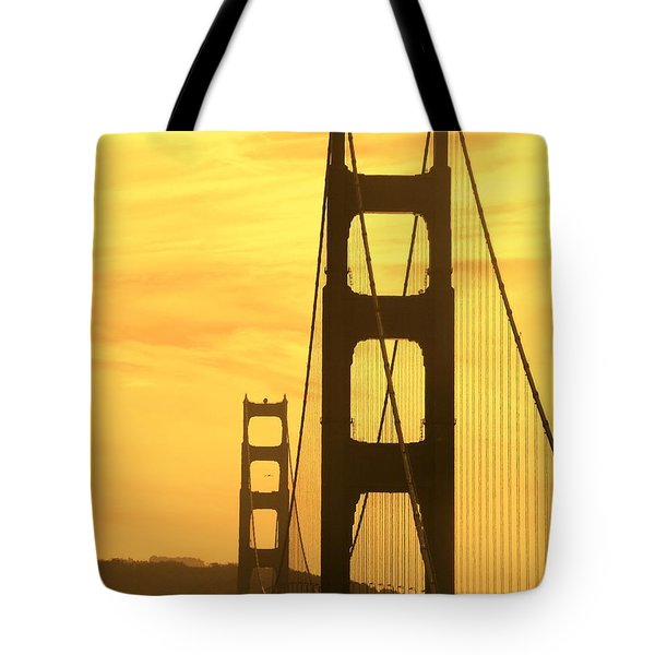 Tote Bag featuring the photograph Golden Gate Bridge  by Clare Bevan