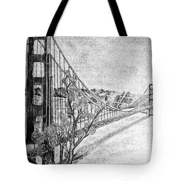 Golden Gate Bridge Tote Bag by Irving Starr