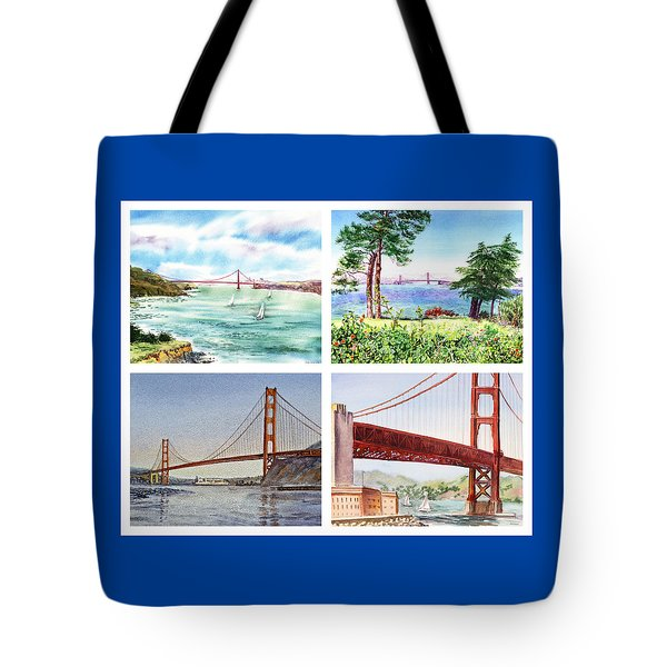 Golden Gate Bridge San Francisco California Tote Bag by Irina Sztukowski