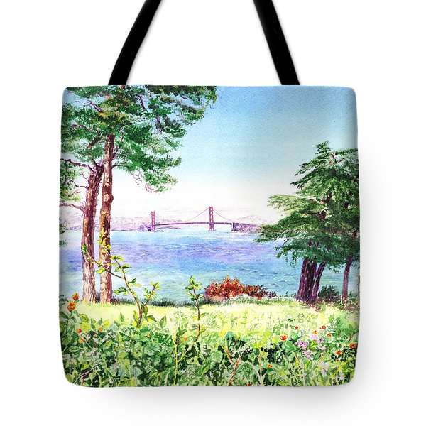 Golden Gate Bridge View From Lincoln Park San Francisco Tote Bag