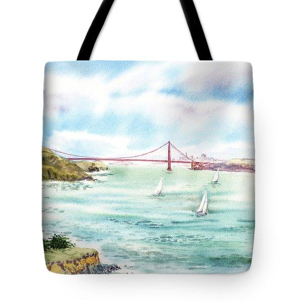Golden Gate Bridge View From Point Bonita Tote Bag