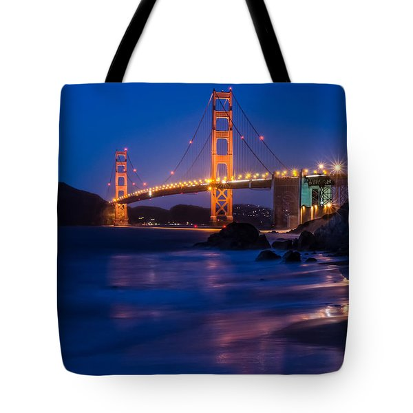 Golden Gate Glow Tote Bag