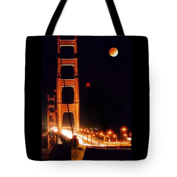 Golden Gate Night Tote Bag by DJ Florek