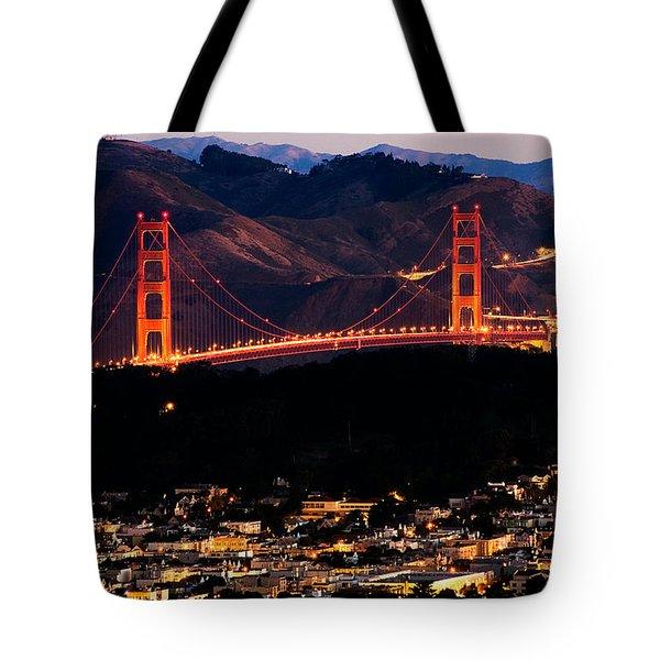 Golden Gate Sunrise Tote Bag