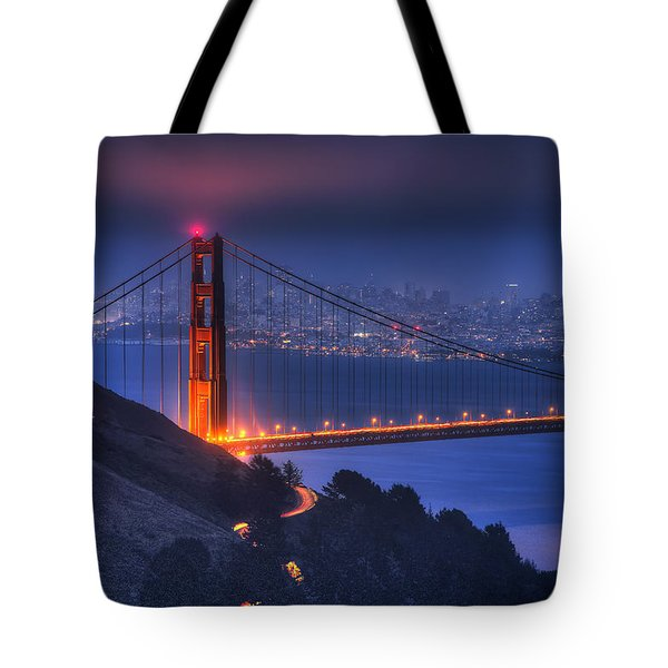 Golden Gate Twilight Tote Bag