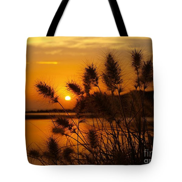 Tote Bag featuring the photograph Golden Glow by Trena Mara