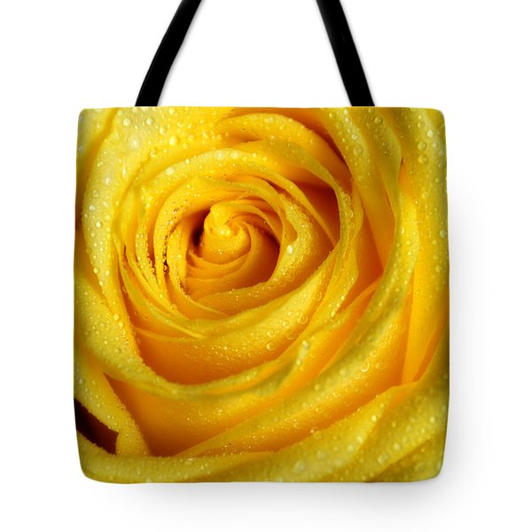 Golden Grandeur Of Nature. Yellow Rose I Tote Bag by Jenny Rainbow