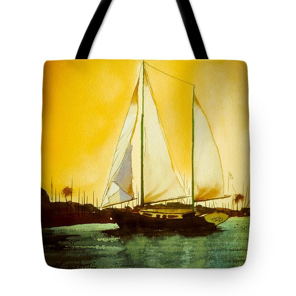 Golden Harbor  Tote Bag by Kip DeVore