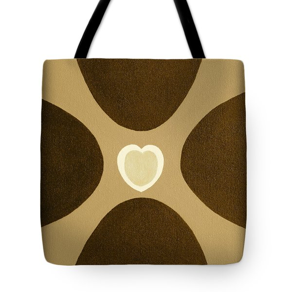 Golden Heart 3 Tote Bag by Lorna Maza