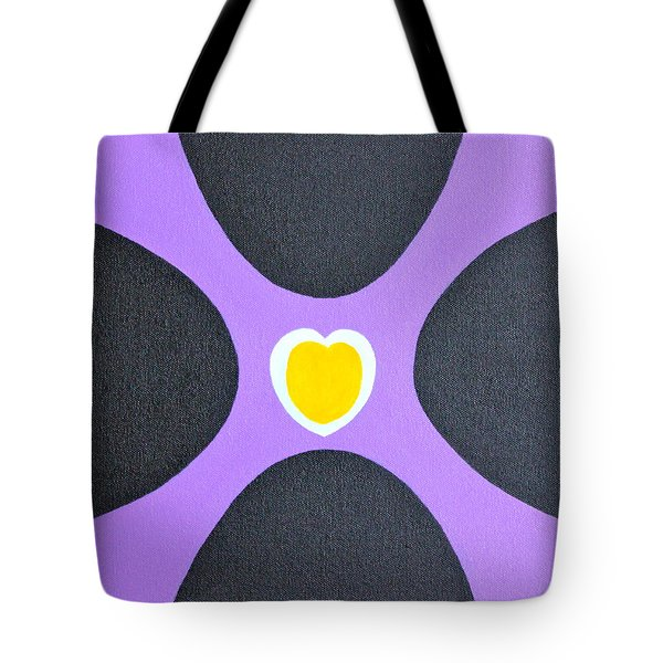 Golden Heart Tote Bag by Lorna Maza