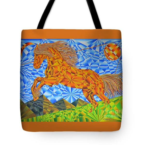 Golden Horse Over The Bitterroot's Tote Bag by Joseph J Stevens