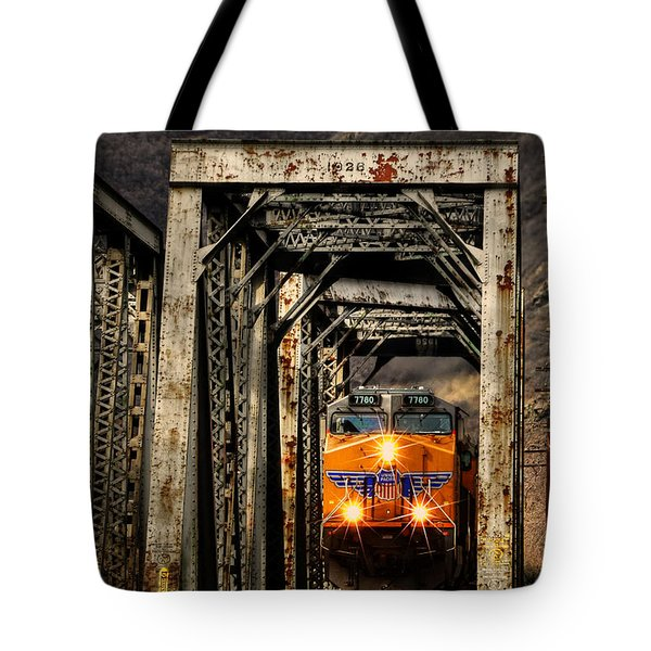 Tote Bag featuring the photograph Golden Hour Crossing by Ken Smith