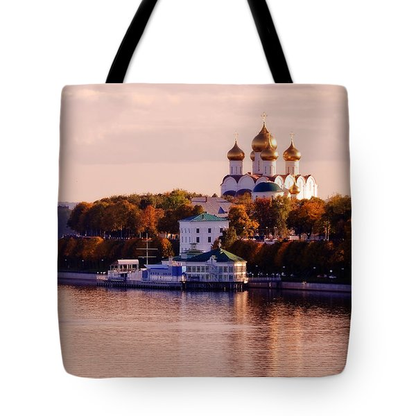 Golden Hour. Yaroslavl. Russia Tote Bag