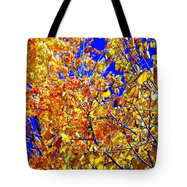 Golden Tote Bag by Kathleen Struckle