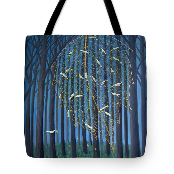 Golden Leaf Tote Bag by Tone Aanderaa