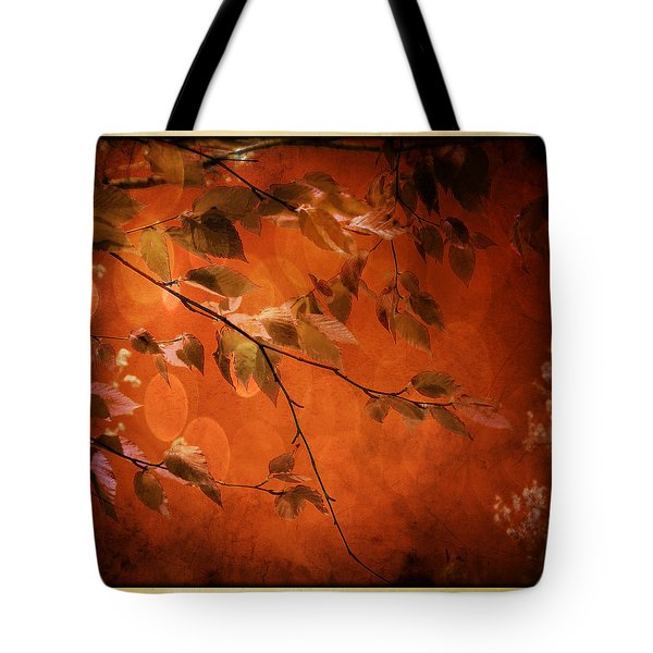 Golden Leaves-1 Tote Bag by Nina Bradica