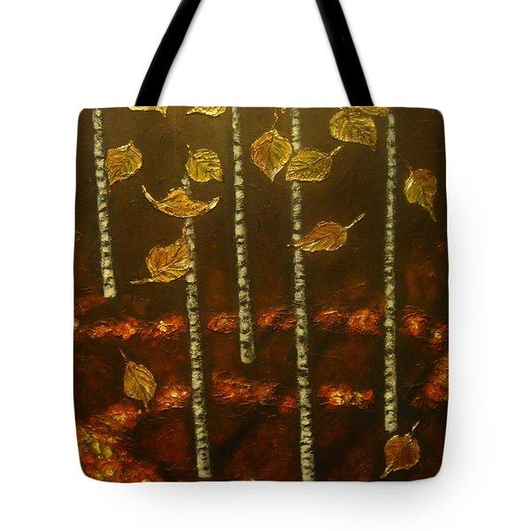 Golden Leaves 2 Tote Bag
