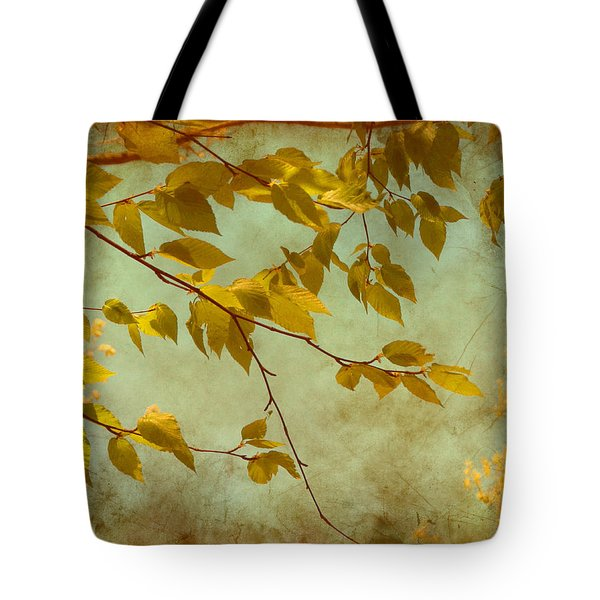 Golden Leaves-2 Tote Bag by Nina Bradica