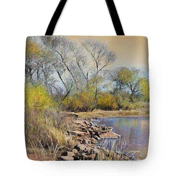 Golden Light Tote Bag by Betty LaRue