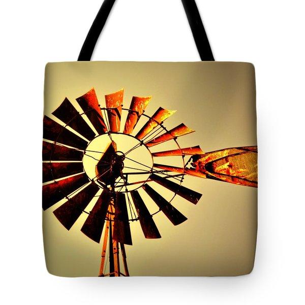 Golden Light Windmill Tote Bag by Marty Koch