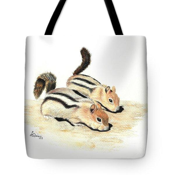 Golden-mantled Ground Squirrels Tote Bag