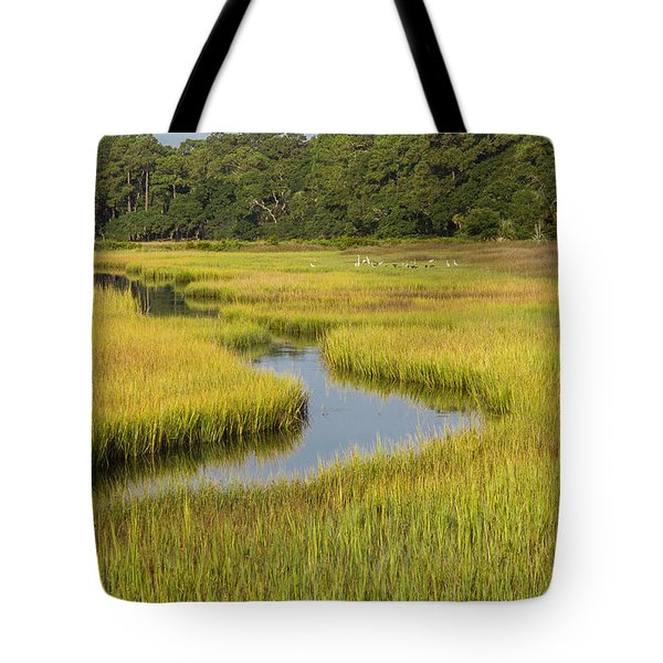 Golden Marsh Tote Bag