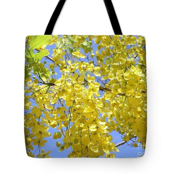 Golden Medallion Shower Tree Tote Bag