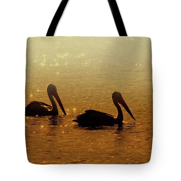 Golden Morning Tote Bag by Mike  Dawson