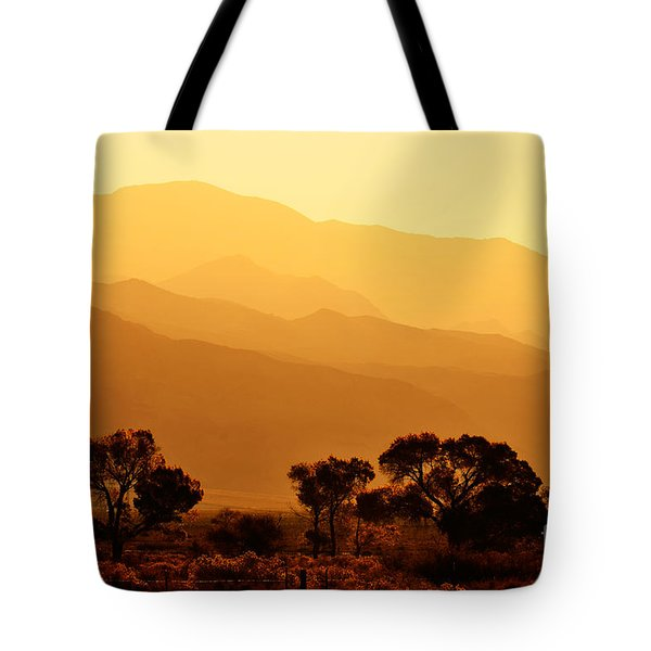 Golden Mountain Light Tote Bag by David Lawson