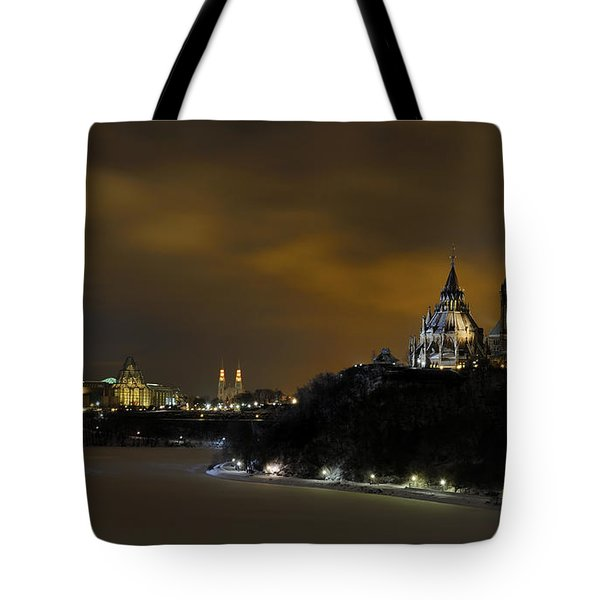 Golden Night... Tote Bag by Nina Stavlund