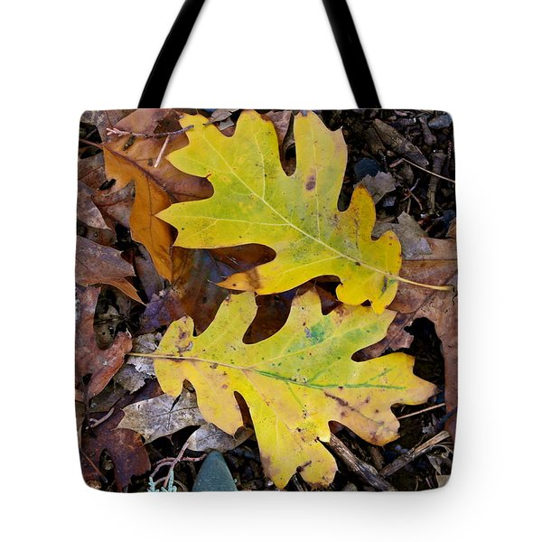Golden Oak Leaf Duet Tote Bag