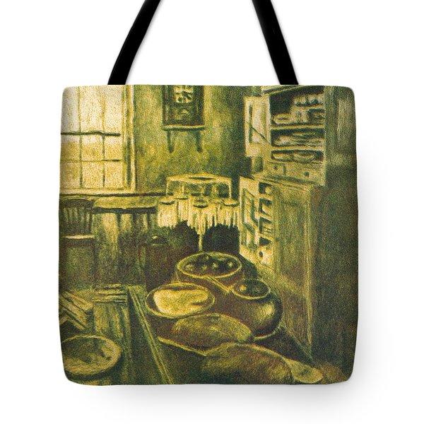 Golden Old Fashioned Kitchen Tote Bag by Kendall Kessler