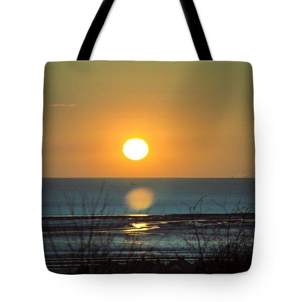 Golden Orb Tote Bag