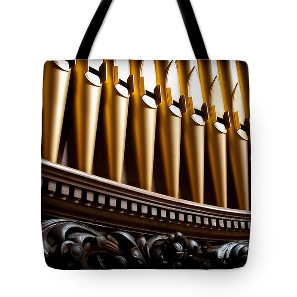 Golden Organ Pipes Tote Bag