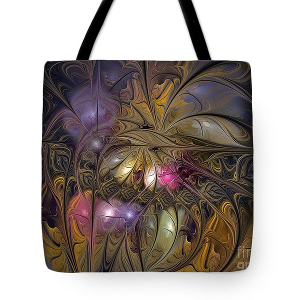 Golden Ornamentations-fractal Design Tote Bag