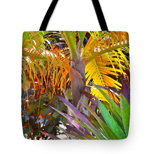 Tote Bag featuring the photograph Golden Palm 2 by Darla Wood