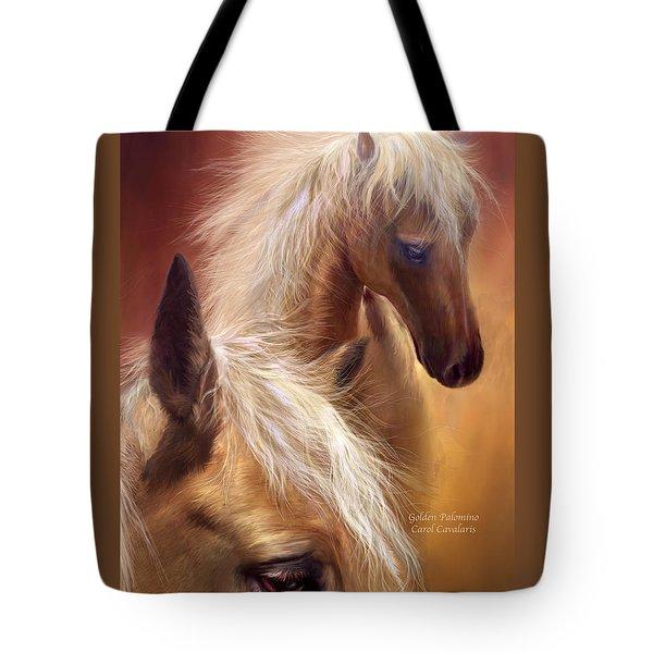 Golden Palomino Tote Bag by Carol Cavalaris