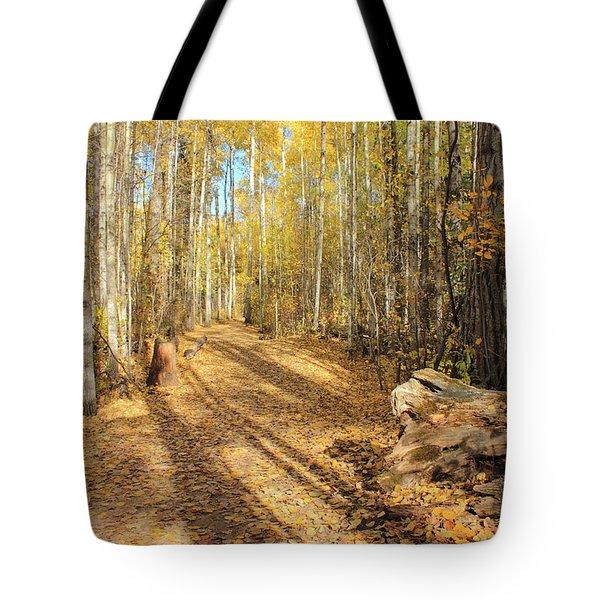 Golden Path Tote Bag by Jim Sauchyn