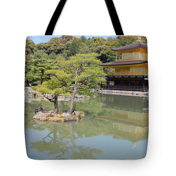 Golden Pavilion Tote Bag by Jonah  Anderson