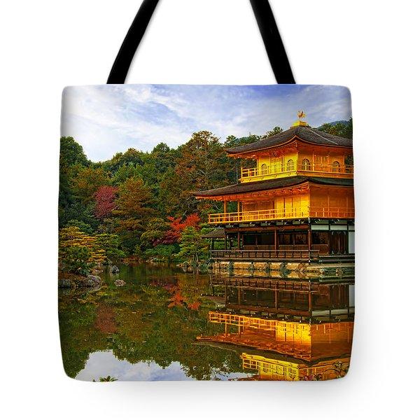 Golden Pavilion Tote Bag