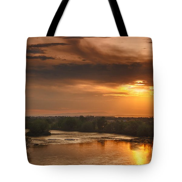 Golden Payette River Tote Bag by Robert Bales